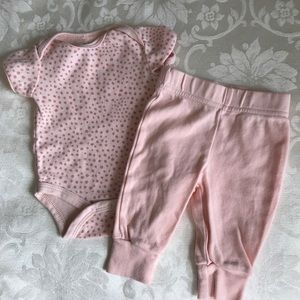 Chick Pea Pink Baby Girl Outfit 0-3M